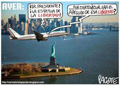 CARICATURISTA PACOTE: PEÑA NIETO EN NUEVA YORK