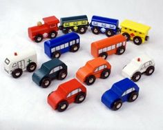 12 Piece Wooden Train and Vehicle Set. $15.