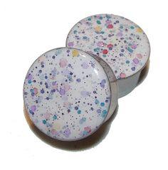 """Jawbreaker Glitter Plugs - 1 Pair - Sizes 00g to 2"""""""