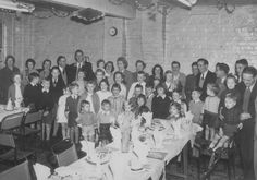 Finedon early1953 Most likely the bottom room of Finedon Town Hall. It was a private party for children..not to do with the local school system. Does this photograph jog anyone's memory I wonder.