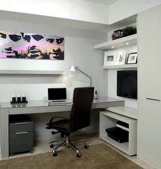 modern home office declutter