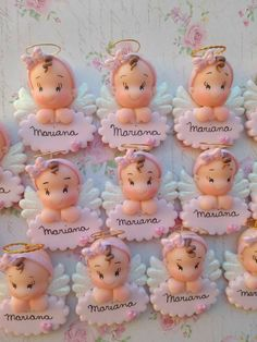 ideas for baby shower souvenirs porcelana fria Baby Shower Cake Decorations, Baby Shower Cupcakes, Shower Cakes, Polymer Clay Ornaments, Polymer Clay Projects, Baby Shower Souvenirs, Baby Shawer, Fondant Baby, Play Clay