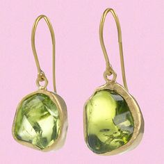 Peridot Single Drop Earrings