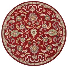 Traditions Hand-Tufted Red Area Rug