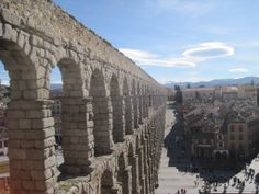 Getaway: Segovia, Spain Castles and Cathedrals. Roast pig and flowing wine. Yes, Segovia has got plenty to keep you entertained for the day. Adventure Travel, Travel Trip, Travel Destinations, Travel And Leisure, Brooklyn Bridge, Tourism, Around The Worlds, England, Europe