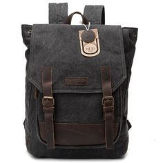 BUG Leather Canvas Backpack, 2 Way to Carry-Coral Green >>> This is an Amazon Affiliate link. Check out this great product.