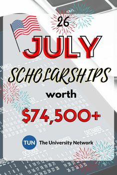 July Scholarships Here is a selected list of July Scholarships. – College Scholarships Tips Scholarships For College Students, School Scholarship, Grants For College, Financial Aid For College, College Planning, Online College, Education College, Graduate School, College Tips