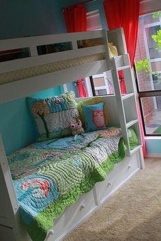 pinterest bunk bed rooms | Girls room - bunk beds
