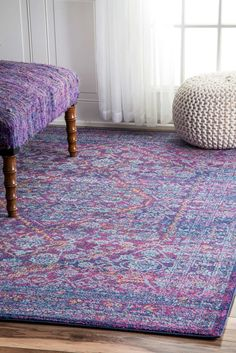 Features:  -Construction: Machine made.  -Does not contain latex.  Technique: -Machine woven.  Primary Color: -Purple/Pink.  Product Type: -Area Rug.  Material Details: -100% Polypropylene. Dimensions