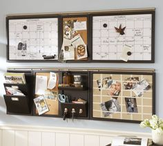 Home Office Wall Organizer bulletin board design tips | office organisation, organizing and