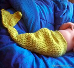 look it's a crocheted mer-baby!  i'm thinking this one is going to grow on me...