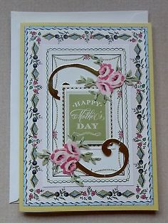 A Handmade MOTHER'S DAY Card with Anna Griffin Design & Supplies Embellished