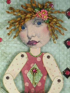 Art Paper Doll  Assemblage Art Whimsical Collage by eclecticmoon, $65.00
