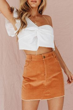 Sandstorm Cord Mini Skirt - CollectiveStyles.com ♥ Fashion | Women apparel | Women's Clothes | Dresses | Outfits | Rompers | PlaySuits | Boohoo | Express | Off The Shoulder | #clothes #denim #distressed #fashion #dresses #women #tops #shop #maxi