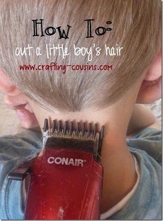 Little Boy's haircut tutorial