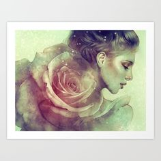 Gorgeous illustration - love the sheen to her skin   June by by Anna Dittmann
