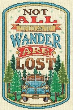 All That Wander Cross Stitch Kit Online at www.sewandso.co.uk