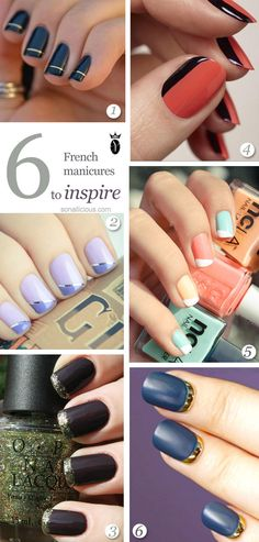 French manicure is one of the most popular type of manicure. It looks chic and quite easy to do. Here's a list of the 5 fabulous French manicure designs