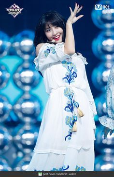 180719 엠카운트다운 트와이스 - Dance The Night Away 현장포토 : 네이버 포스트 Stage Outfits, Kpop Outfits, Nayeon, South Korean Girls, Korean Girl Groups, K Pop, White Dress Summer, Summer Dresses, Summer Outfit