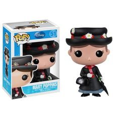 This is a Disney Mary Poppins POP Vinyl Figure that is produced by Funko. Mary Poppins looks great in her Funko POP Vinyl form! Fans of the most legendary nanny are sure to be stoked that she got her Disney Pop, Disney Pixar, Mary Poppins, Figurine Disney, Pop Figurine, Billy Madison, Jeepers Creepers, Pop Vinyl Figures, Aladdin