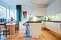 Awesome kitchen (but I would replace the wood counter tops with stone or marble, i think).