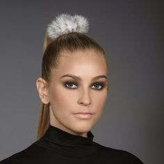 Something special for your hair. Fur elastic ponytail tie