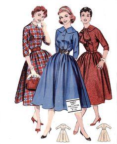50s Full Skirt Shirtwaist Dress Puritan by allthepreciousthings, $32.00