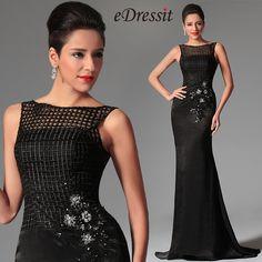 eDressit 2014 New Black Sleeveless Overlace Long Formal Evening Dress