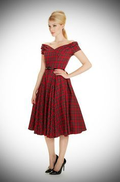 a8a4b93dc8 1950 s style Red Tartan Fatale Prom dress at Deadly is the Female by the  Pretty Dress Company
