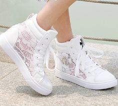 $32.00 | Fashion lace summer Leisure canvas shoes 3054QX