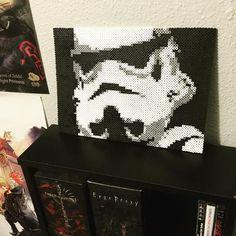 Stormtrooper Star Wars perler beads by Sean Devane