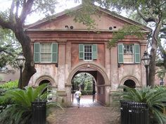 Gate House at The Cistern, The College of Charleston, C of C was the first municipal college in the United States.