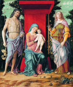 Andrea Mantegna:  Madonna and Child with Saints John the Baptist and Mary Magdalene