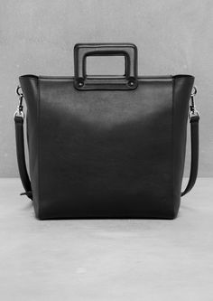 & Other Stories | Square Handle Leather Tote