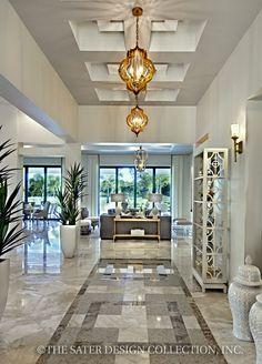 "Foyer/Entry. The Sater Design Collection's luxury, Tuscan home plan ""Arabella"" (Plan #6799). saterdesign.com #methodcandles and #firstimpressions"