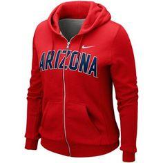 Nike Arizona Wildcats Ladies Cardinal University Classic Full Zip Hoodie Sweatshirt  $59.95