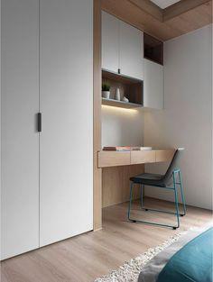 Trendy Home Office Ikea Ideas Study Study Table Designs, Study Room Design, Bedroom Cupboards, Bedroom Desk, Computer Desk In Bedroom, Small Bedroom Designs, Small Room Design, Home Office Design, House Design