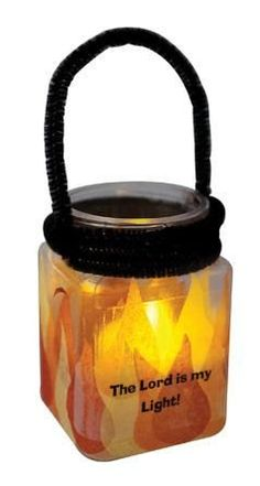 His Flame Lanterns from Guildcraft Arts & Crafts! A colorful way to ignite kids faith and demonstrate the message - The Lord is my light! Make this craft really shine by adding a tea light (sold separately).