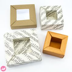 Origami Planter Pot Box Tutorial