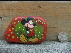 Mickey Mouse Painted Rock