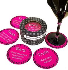 Animal Print Truth or Dare Bachelorette Party Coasters | Bachelorette Party Supplies | The House of Bachelorette