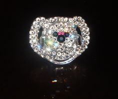 Love Minnie! Baby Bling Swarovski Crystal Avent Pacifier / Binky - Minnie Mouse