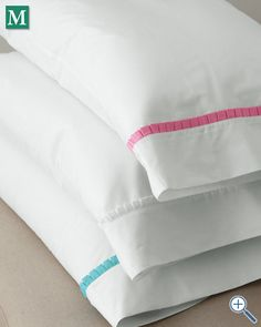 Lilly Pulitzer® Ruffle Me Percale Bedding.  A Gift Wrapped Life gifting tip: A lovely gift for someone who is recuperating or bed bound. Nothing like beautiful pillow cases to make them feel better.