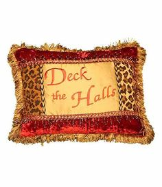 Deck the Halls Animal Print Pillow