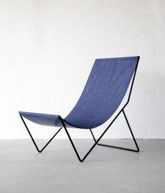 Reform Kitchen / chair inspiration / Design / interior / Home / Decor / Modern / Kyle Garner . sling chair, for Sit & Read Metal Furniture, Modern Furniture, Furniture Design, Outdoor Furniture, Furniture Inspiration, Design Inspiration, Beach Chairs, Sofa Chair, Take A Seat
