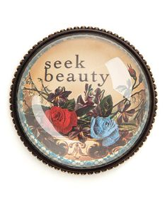 Take a look at this 'Seek Beauty' Paperweight by DEMDACO on #zulily today!