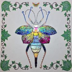 ✨✨Another shiny creature in this Magical Jungle ✨✨ #shiny #magical #magicaljungle #shine #bug #beetle #artoftheday #adultcoloring #adultcoloringbook #becreative #coloring #coloringbook #decofoil #drawing #enchantedforest #johannabasford #mindfulness #lostocean #secretgarden #zen #zentangle