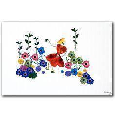 "Trademark Fine Art Kathie McCurdy 'Garden Magic' 16"" x 24"" Canvas Art"