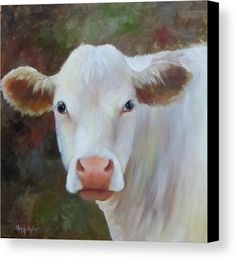 Ms Petunia Canvas Print by Cheri Wollenberg. All canvas prints are professionally printed, assembled, and shipped within 3 - 4 business days and delivered ready-to-hang on your wall. Choose from multiple print sizes, border colors, and canvas materials. Cow Painting, Painting & Drawing, Canvas Art, Canvas Prints, Art Prints, Mini Canvas, Cow Pictures, Cow Pics, Poster Prints