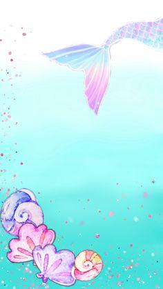 Mermaid Wallpaper Backgrounds, Mermaid Wallpapers, New Wallpaper, Iphone Wallpaper, Arte Aries, Mermaid Background, Mermaid Cartoon, Mermaid Birthday, Disney Art
